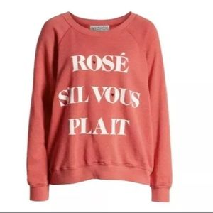 "New Wildfox ""Rose S'il Vous Plait Sommers Sweater"""